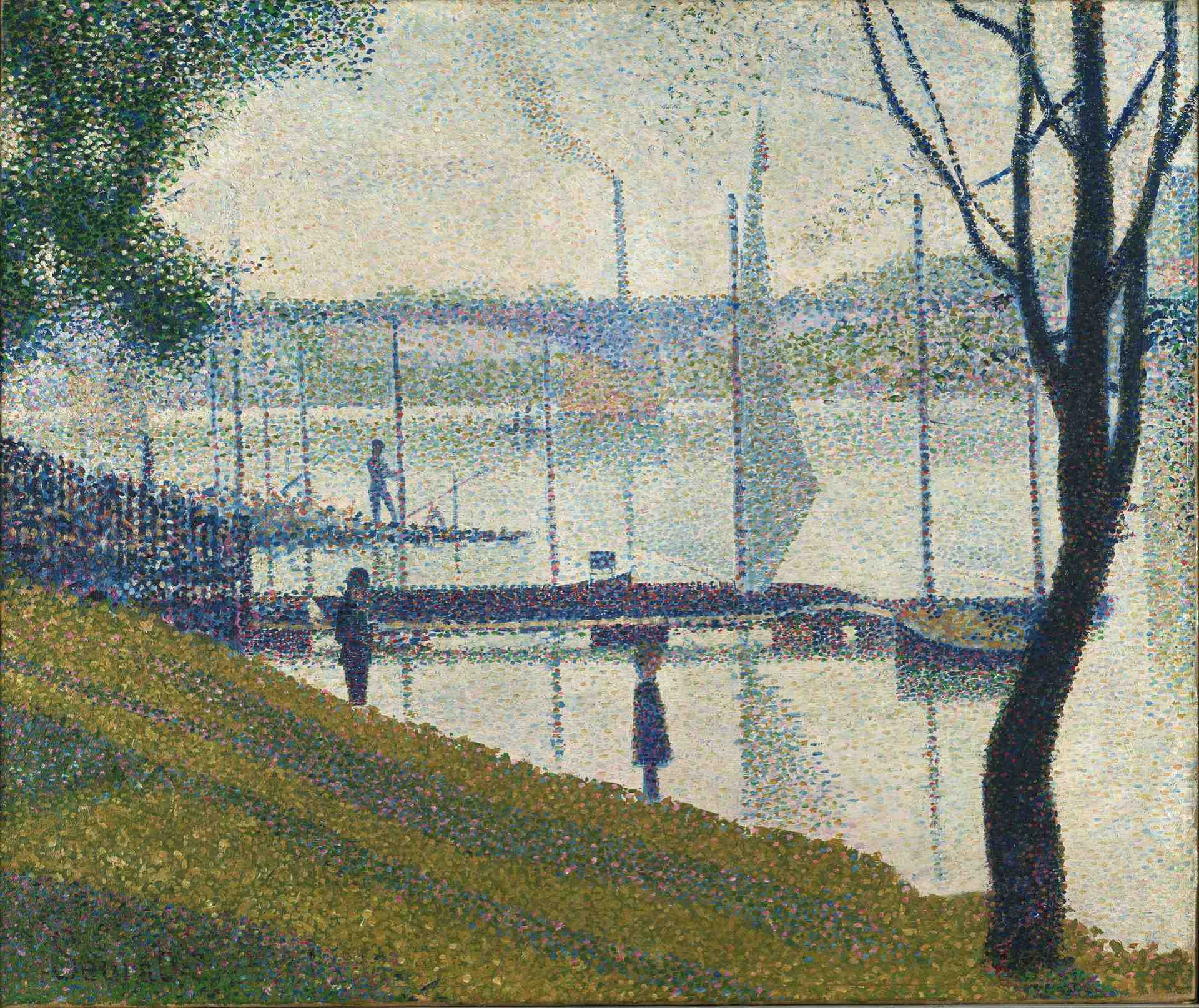 Why did Seurat use pointillism?