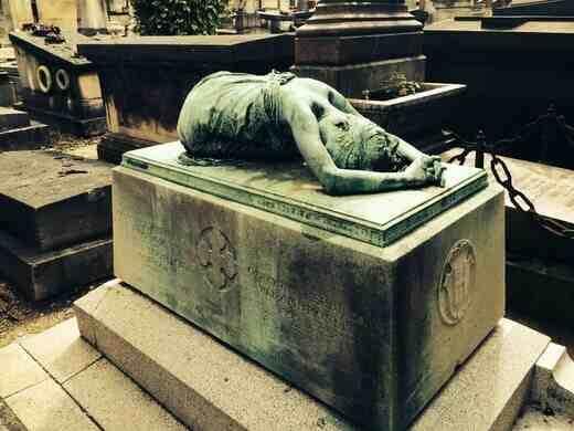 Cementerio de Montmartre París | Esculturas y gatos