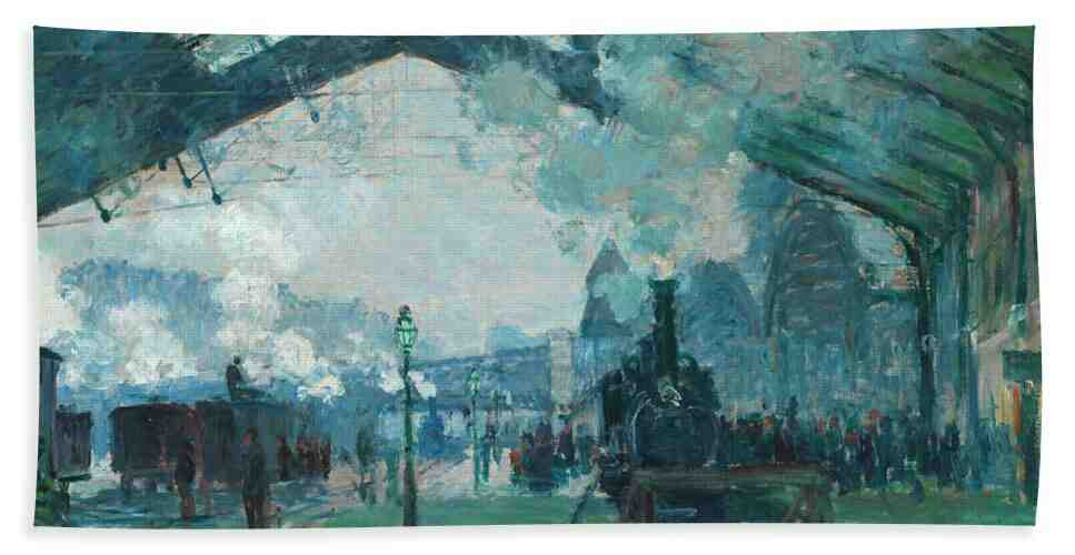 Pintura de Monet de Gare St-Lazare